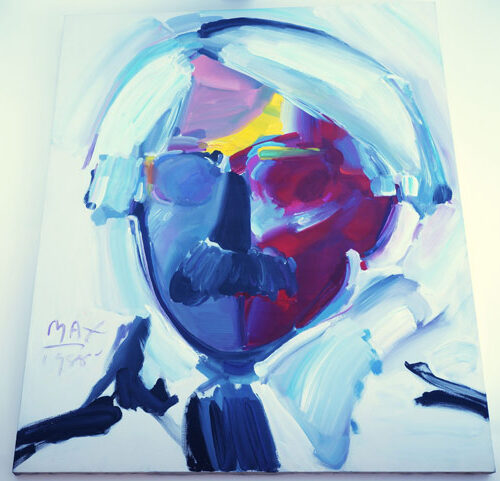 Andy Worhol with Mustache by Peter Max