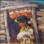 Alice Bily & Her Baby Lamb