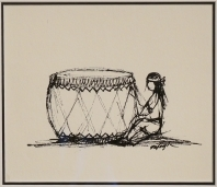 Child with Large Drum