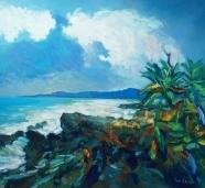 Coastline and Palm Tree