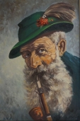 Swiss Man with Pipe