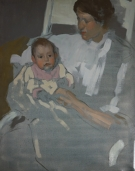 Portrait of Wife and Daughter 1907
