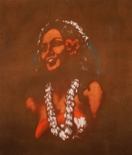 Untitled (Subject: Hawaiian Girl in White Lei)