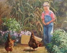 Emma and the Hens