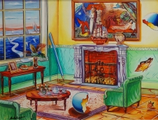 Chagall Above Fireplace