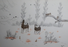 Untitled (Two Deer in the Snow)
